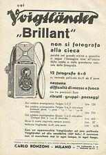 W0271 VOIGTLANDER Brillant non si fotografa alla cieca - Pubblicità 1933 - Adv.