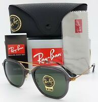 NEW Rayban Sunglasses RB4273 6237 Grey-Gold Green G15 Square Aviator AUTHENTIC