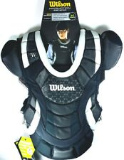 "Softball Chest Protector Wilson ProMOTION Fastpitch Blk fits 14"" Intermediat"
