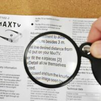 60mm POCKET SIZE Foldable MAGNIFYING GLASS Small Print Reading Magnifier