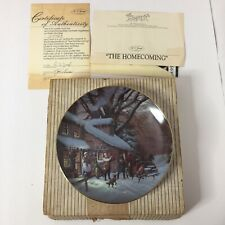 Scenes of Christmas Past Collectible Plate The Homecoming 1989 Lloyd Garrison