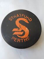 STRATFORD PERTHS OHA VICEROY MADE IN CANADA VINTAGE OFFICIAL GAME PUCK scarce