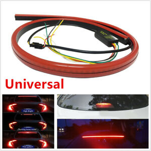 Red LED Car SUV Rear Windshield High Mount Brake Tail Light Sequential Strip 1PC
