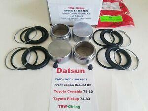 Major Caliper Rebuild Kit W/Pistons fits Datsun 240 260 280Z Toyota Cressida PU
