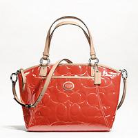 NWT $398 Coach Peyton Pocket Patent Leather Tote Shoulder Bag Handbag NEW