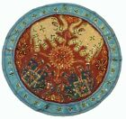 """32"""" COPPER GUJRATI WALL HANGING DÉCOR TAPESTRY TRIBAL RUNNER HANDCRAFTED VINTAGE"""