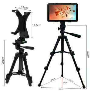 Adjustable Floor Tripod Stand Mount Tablet Holder 4 Section Poles For Apple iPad