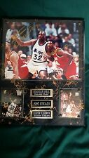 "1995 Finals Shaquille O'Neal and Hakeem Olajuwon Double Signed 8"" x 10"" Picture"