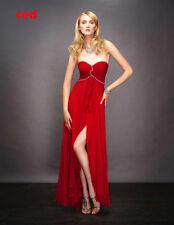 divine robe de soirée/mariage/gala/cocktail rouge T36/38 neuve