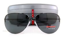 New Prada Sport Linea Rossa Sunglasses PS 56M 56MS 1BO/1A1 Black For Men