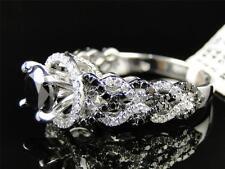 Womens Ladies White Gold Black Diamond Solitaire Engagement Ring Set 2.5 Ct