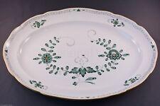 Meissen Bratenschale 00310 - 340310 Indische Malerei 2 Kante grün 2.Wahl L. 50cm