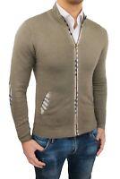 Cardigan Pullover uomo Diamond invernale beige maglione slim fit S M L XL XXL