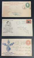 United States, Lot of 3 Circa 1890's-1901 Illustrated / Advertising Covers