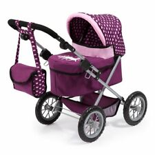 Bayer Design Doll Pram Trendy Smarty Pushchair Buggy small  Pink Purple - New
