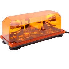 24V LKW Doppel Rundumleuchte Gelb Warnlicht Magnetisch Leuchtbalken Lichtbalken