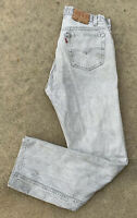 Vintage Levi's 501 Jeans Gray Acid Wash 34 34 Measure 32 X 31 Made In USA