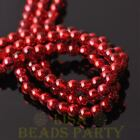 Hot 100pcs 6mm Round Glass Loose Spacer Beads Jewelry Making Red