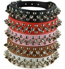 Rivets Spiked Studded Dog Collar PU Leather Dog Collar for Medium & Small Dogs