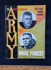 1962 Army vs. Wake Forest college football program with Brian Piccalo photo