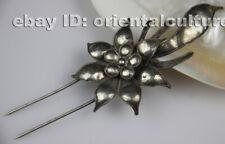 Chinese handmade miao silver filigree hairpin headgear (ancient palace style)
