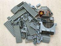 Lego: Lot de 200g pièces/plaques/Brique en vrac parts OldGray/Gris Castle/Space