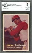 Frank Robinson Rookie Card 1957 Topps #35 Cincinnati Reds BGS BCCG 9