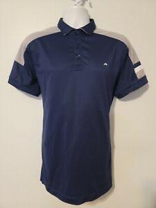 J. Lindeberg Men's Slim Fit Blue Polo Shirt Size XL