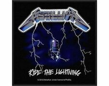 METALLICA ride the lightning - WOVEN SEW ON PATCH - free shipping
