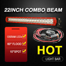 OSRAM LED Light Bar 22 inch Spot Flood Combo Driving Offroad Truck 4WD Red Slim
