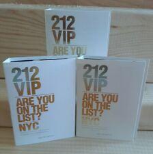 Carolina Herrera 212 VIP 3x1.5ml Perfume Samples. New