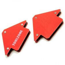 25lb Small Welding Magnet x 2 Right Angle Square Holder Soldering Durable TE134