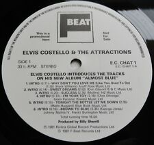 Elvis Costello - Almost Blue UK 1981 F-Beat Promotional LP