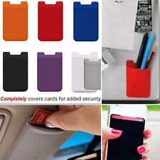 LOT of 10 HQ Elastic Lycra Pouch Wallet Cell Phone Car Visor ID Card Holder 3M
