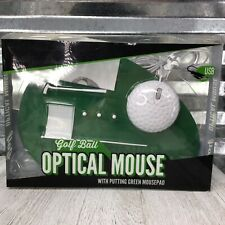 Golf Ball Optical Mouse With Putting Green MousePad