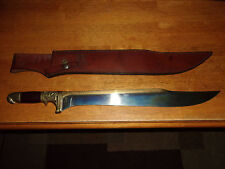 "INDIANA JONES UC501 BOWIE KNIFE WITH LEATHER SHEATH 24"" LONG MOVIE REPLICA PROP"