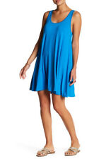 ABOUND Nordstrom Blue Greece Racer Back Tank Dress Swim Cover XS *NWT*
