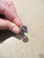 SHIPTONIA ENGLAND Sterling Silver  Amethyst Art Deco 1920'S RING size 6
