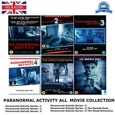 Paranormal Activity Series 1 - 6 Complete Collection 1 2 3 4 5 6 + Extras UK DVD