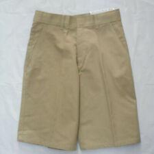 Boys Khaki Pirma Press Adjustable Waist Uniform Shorts Size 10