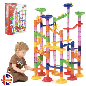 MARBLE RUN RACE SET 105PC CONSTRUCTION BUILDING BLOCKS KIDS TOY GAME TRACK GIFT