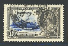 BARBADOS Sc187 SG242 Used 1935 1&1/2p KGV Silver Jubilee Issue SCV$9