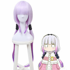 Miss Kobayashi's Dragon Maid Kamui Kanna Gradient Purple Long Cosplay Wigs Hair
