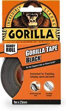"""New listing Gorilla Duct Tape To-Go, 1"""" x 30 ft, Black Double-Thick Adhesive"""