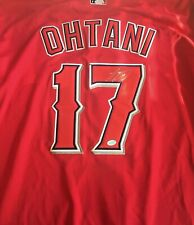 AUTOGRAPHED SHOHEI OHTANI LOS ANGELES ANGELS RED MAJESTIC MLB JERSEY WITH COA!