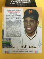 1955 RED MAN WILLIE MAYS #NL 7 NEW YORK GIANTS HOF EX/EX+ SEE PICS WITH TAB