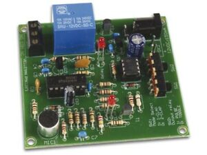 Klatschschalter Geräuschschalter Geräuschdetektor 12V Velleman Bausatz MK139