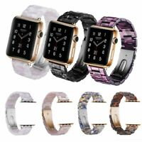 38mm/44mm Tortoise shell Resin Watch Strap Band For Apple Watch Series 4 3 2 1