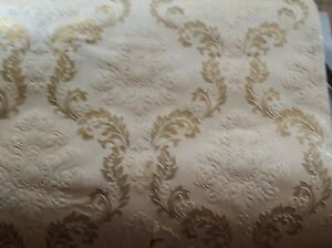 "Antique  Wallpaper- Embossed and Gilded Single Roll 20.5"" Wide"
