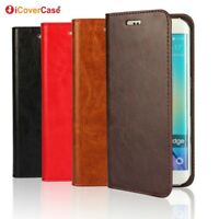 iCoverCase Genuine Leather Wallet Flip Case Cover For Samsung Galaxy S6/S6 edge